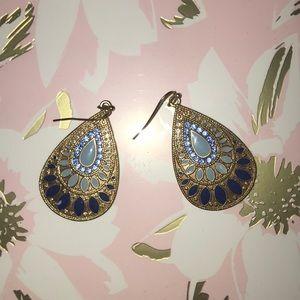 Super fun blue dangle earrings!